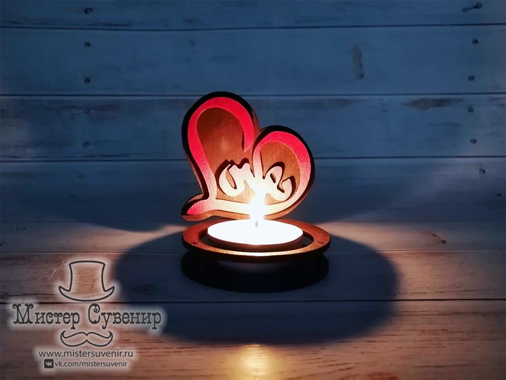 Подсвечник для чайной свечи «Love»