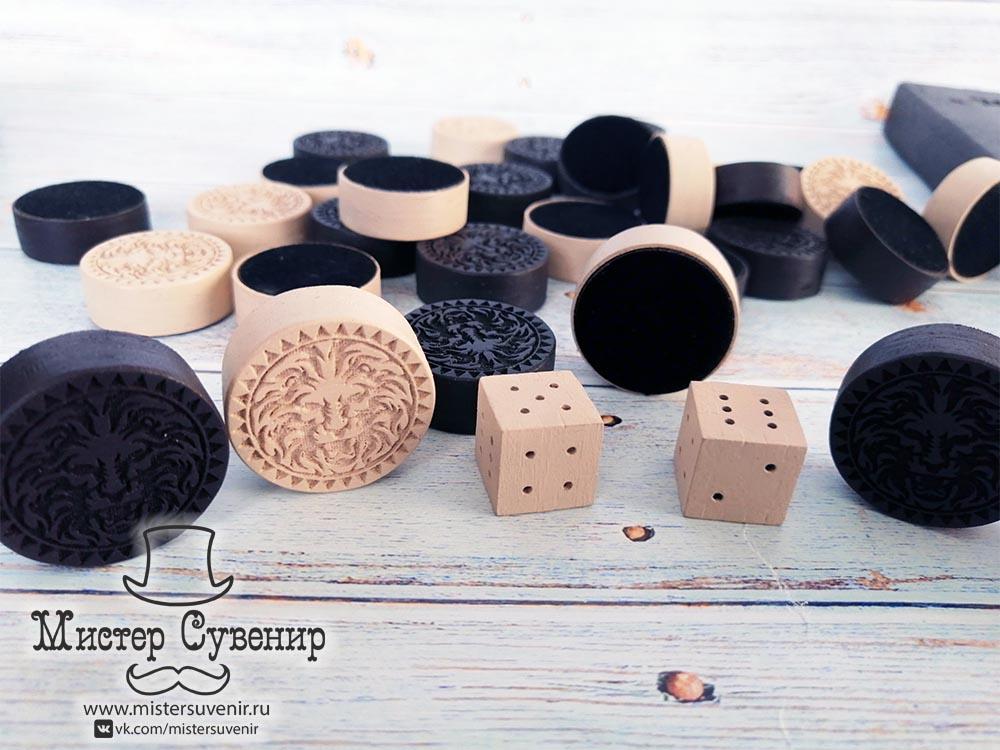 Фишки для нард ручной работы из дерева