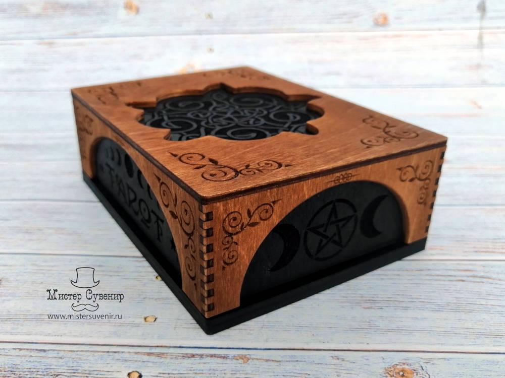Шкатулка для карт таро из дерева