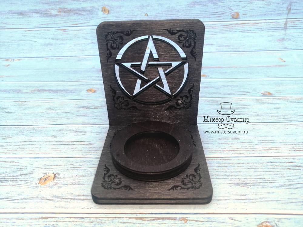 """Маленький деревянный алтарь """"Пентаграмма"""""""