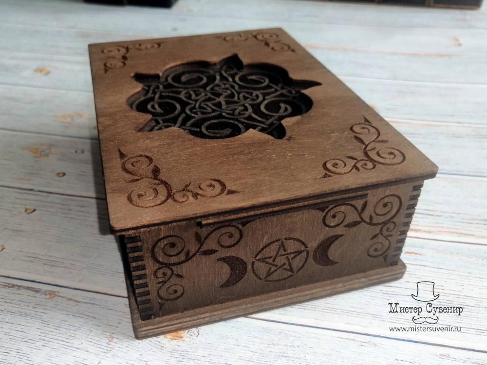 Для карт таро в коричневом цвете из фанеры