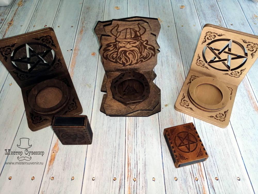 Алтари Один и Пентаграмма из дерева ручной работы