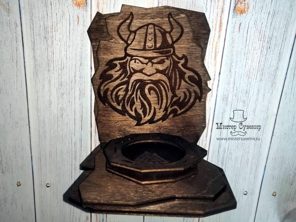 алтарь под гильзовую свечку с изображением Одина