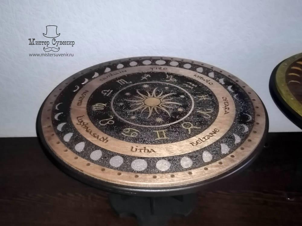 Алтарный столик колесо года из фанеры