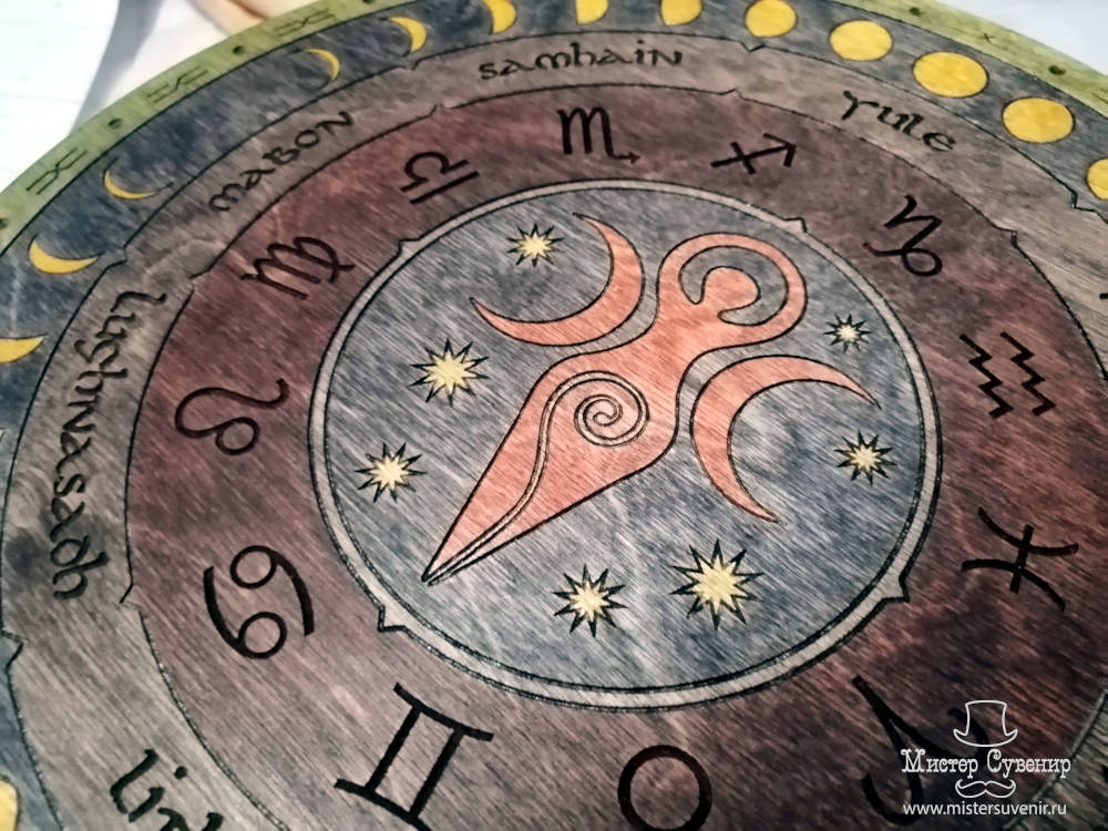 Алтарный столик колесо года с триединой богиней