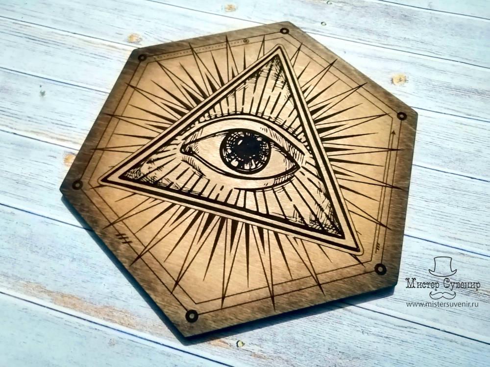 Алтарь всевидящее око из фанеры